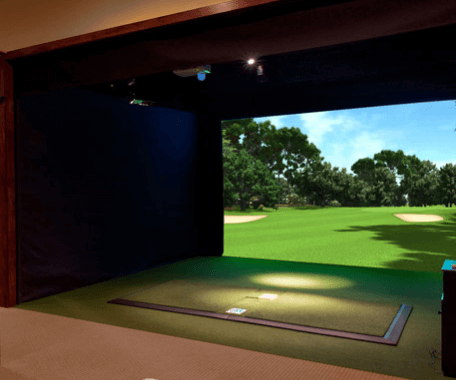 Kennebec Valley Indoor Golf's AboutGolf's Premium Golf Simulator.